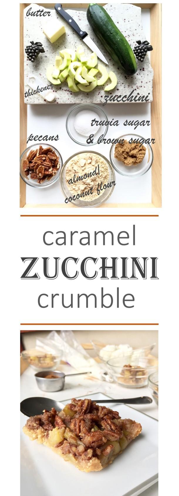 Caramel Zucchini Crumble
