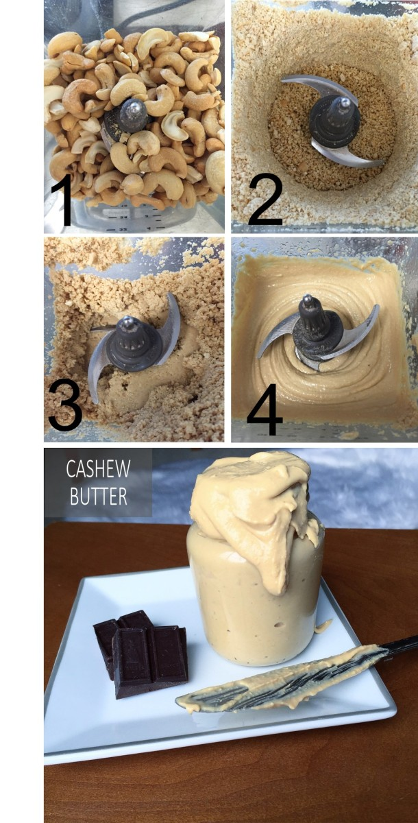Four Steps One Ingredient Cashew Butter
