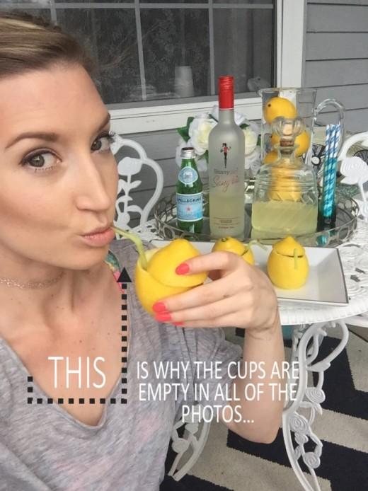 Tipsy Lemon Cups for Summer