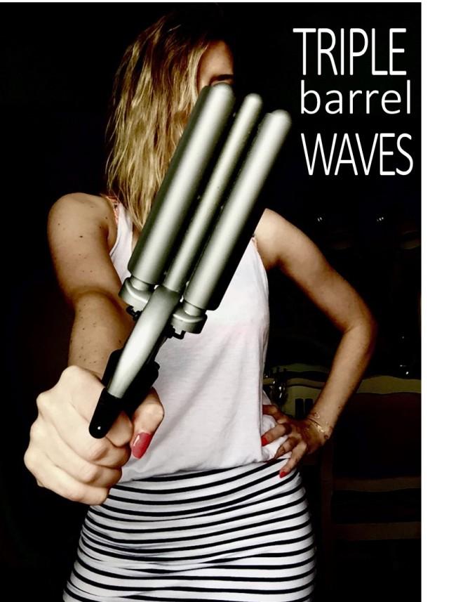 Tripple Barrel for Beach Waves