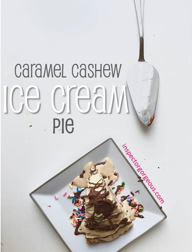 Cashew Caramel Ice Cream Pie