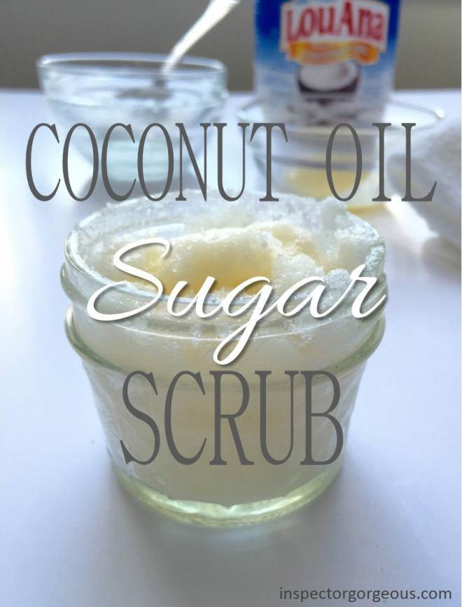 Simple Coconut Oil Sugar Scrub